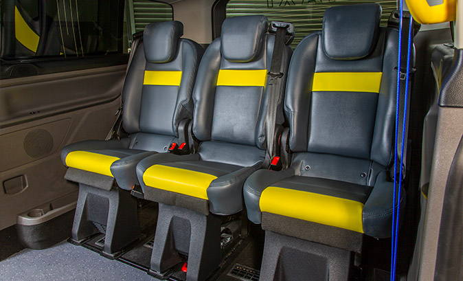 Comfortable Seats - Ford Tourneo Custom Taxi
